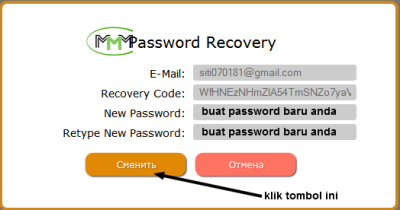 buat password baru